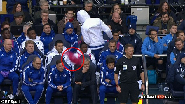Mikel Laughs As Diego Costa Throws Bib At Mourinho