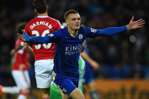 Vardy Breaks EPL Goals Record As Leicester, Man United Draw