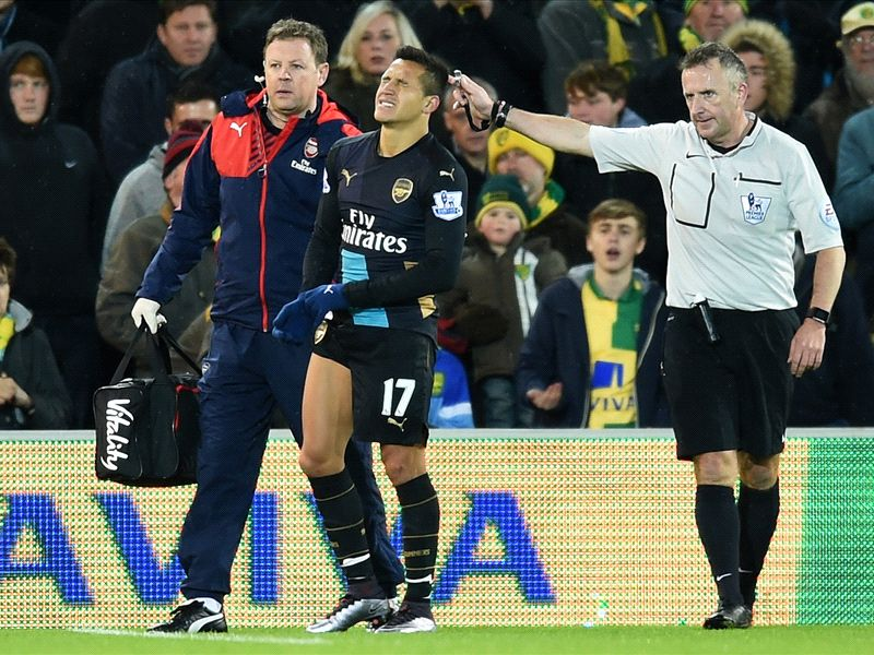 Sanchez, Koscielny Injured As Norwich City Hold Arsenal