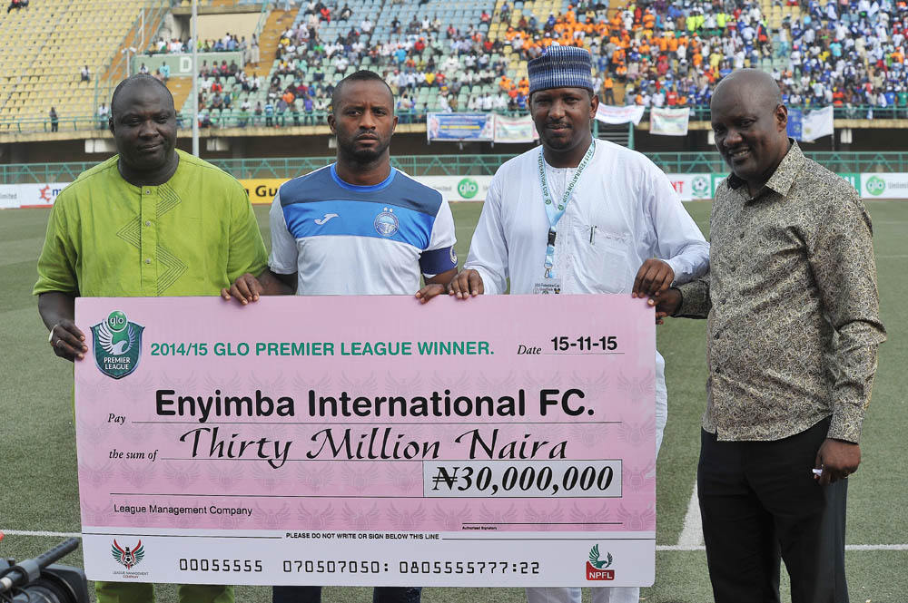 Enyimba Bag N30m Glo League Title Money