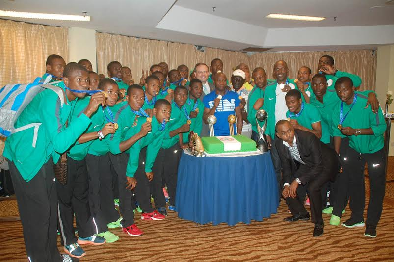 Hayatou, New Sports Minister Hail Victorious Golden Eaglets