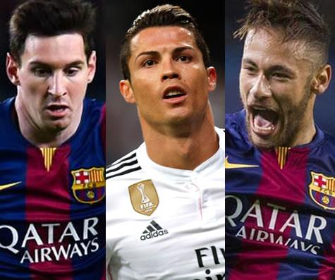 Messi, Neymar, Ronaldo Make Final Ballon d'Or Shortlist