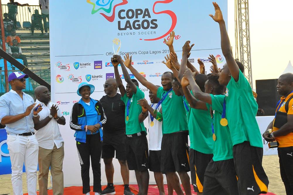 Ivory Coast  Edge England, Retain COPA Lagos Crown