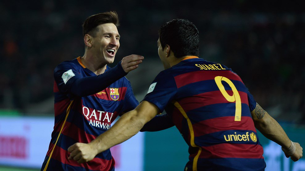 Messi, Suarez Score As Barca Claim Third Club World Cup Title