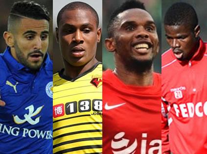 Mahrez, Ighalo, Eto'o, Echiejile Make African Team Of The Week