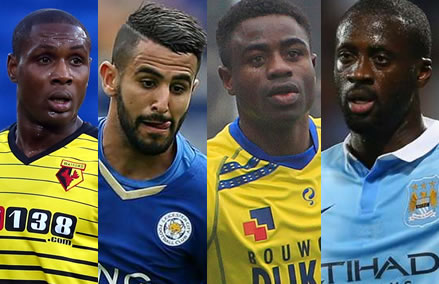Ighalo, Mahrez, Ogbeche, Toure In African Team Of The Week