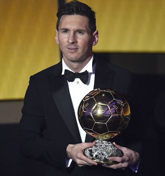 5-Star Messi Beats Ronaldo, Neymar To FIFA Ballon d'Or