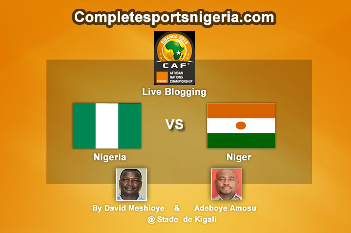 Minute By Minute: Nigeria Vs Niger