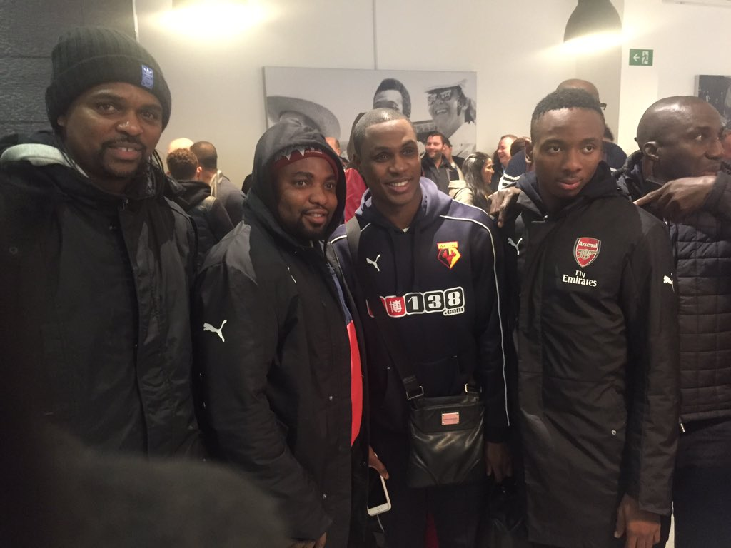 Ighalo Thanks 'Legend' Kanu, Nwakali For Watford Support