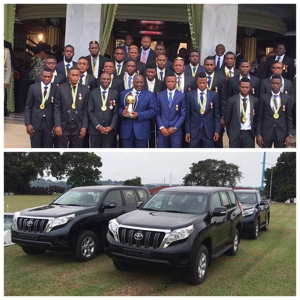 DR Congo President Rewards CHAN Winners With Jeeps