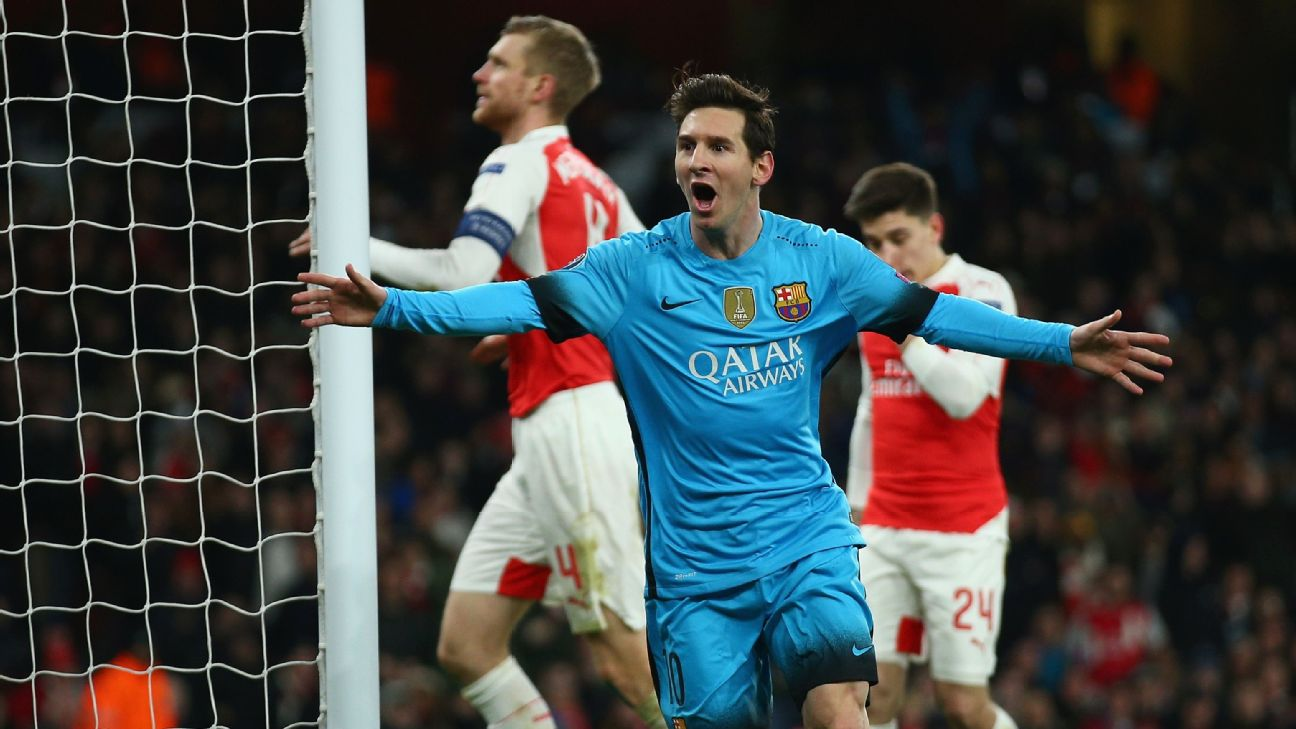 UCL: Messi Double For Barca Sinks Stubborn Arsenal