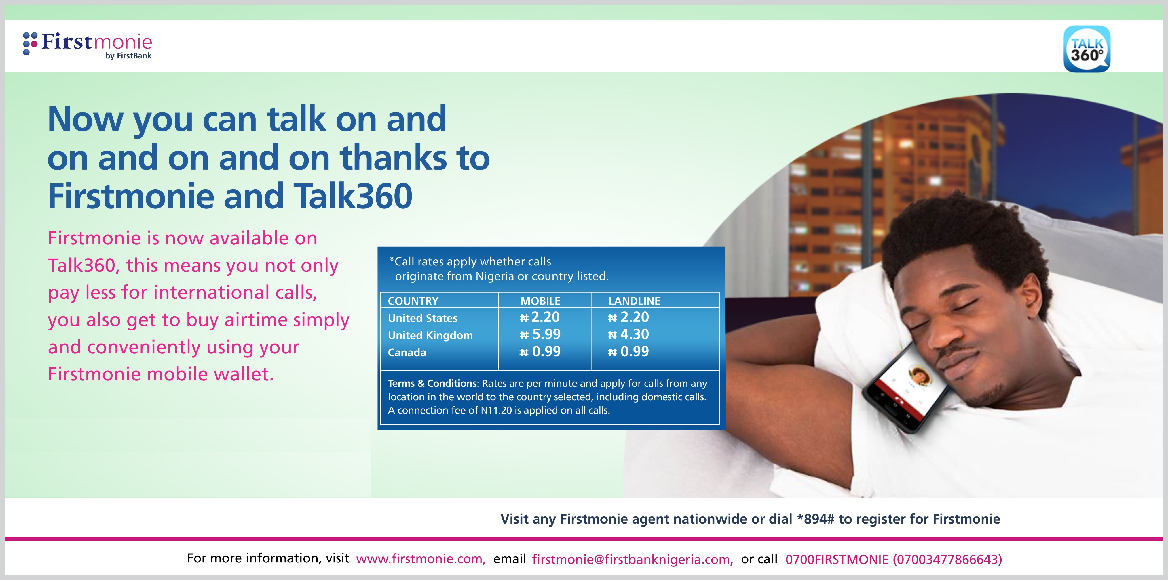 Firstmonie Introduces Talk360 To Enable You Make Savings On International Calls