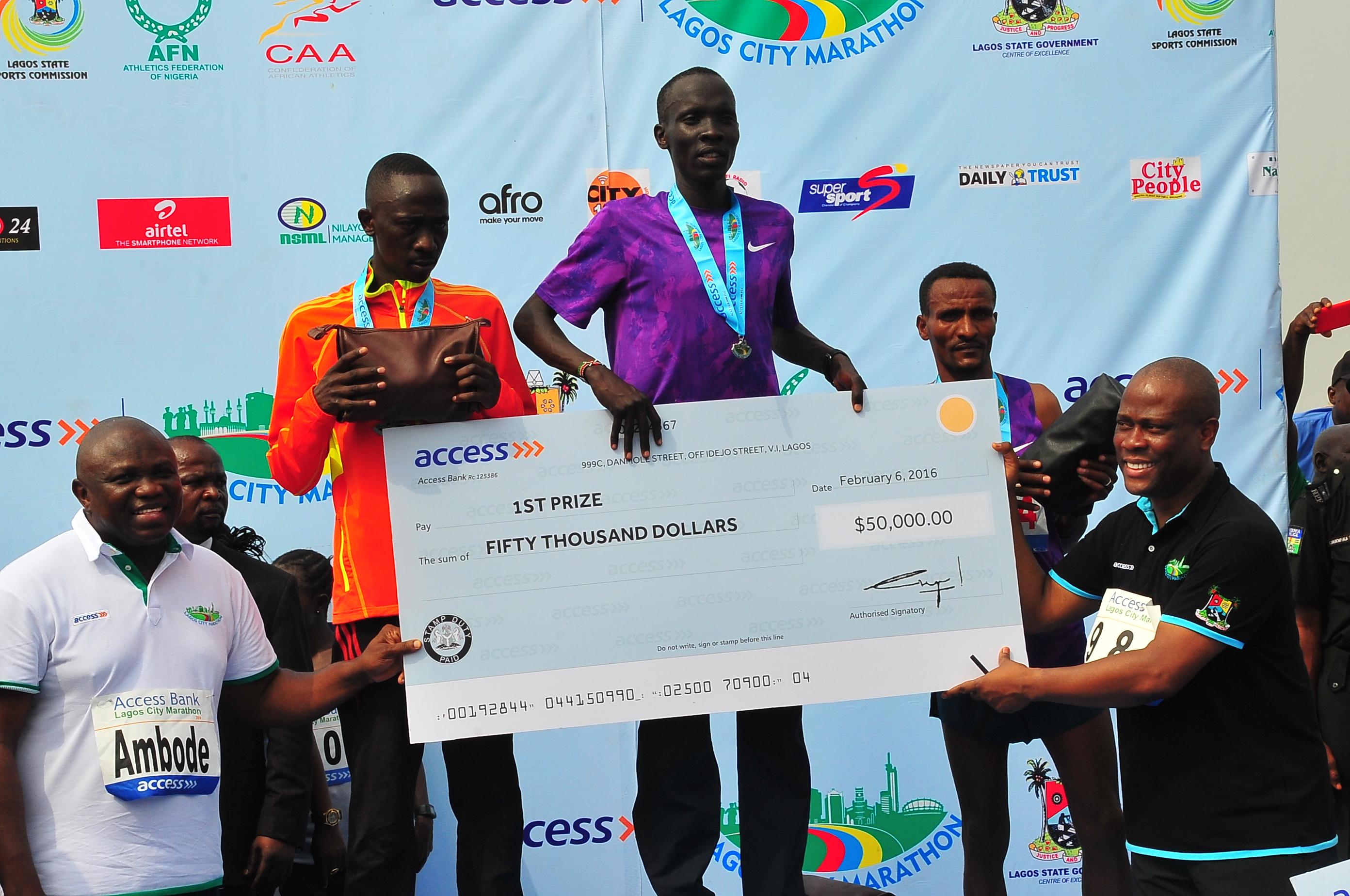 Kenya's Kipton Wins Lagos City Marathon