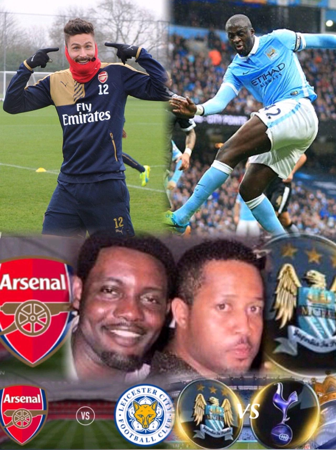 Super Sunday! AY, Ezuruonye Tip Arsenal, Man City To Win