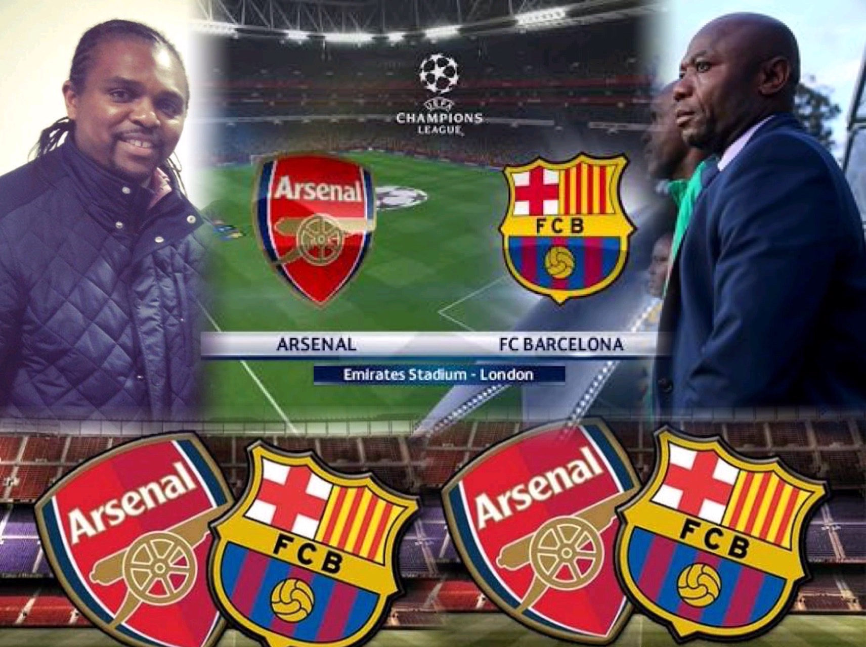 It's Kanu Vs Amuneke As Arsenal Seek Second Win In History Against Barcelona