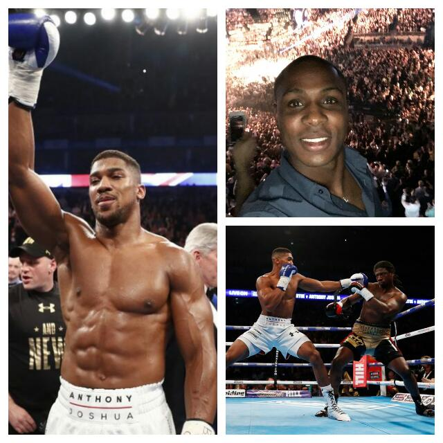Ighalo Watches, Celebrates As 'Beast' Joshua Claims World Title