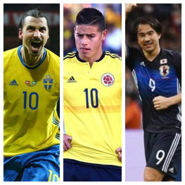 Rio 2016: Zlatan, Rodriguez, Other Big Stars Nigeria Could Face