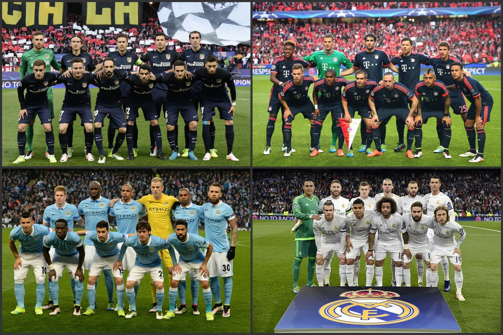 Champions League Semis: City Draw Real, Atletico To Face Bayern
