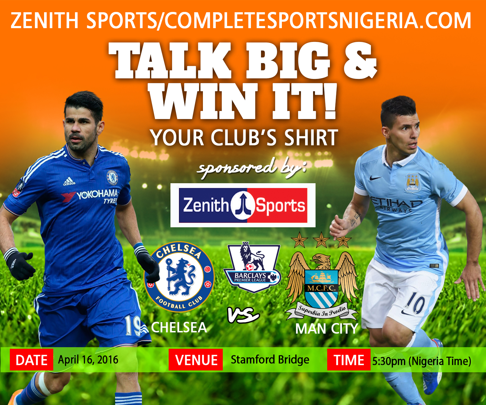 The Winners: Chelsea Vs Manchester City, Talk Big & Win It!