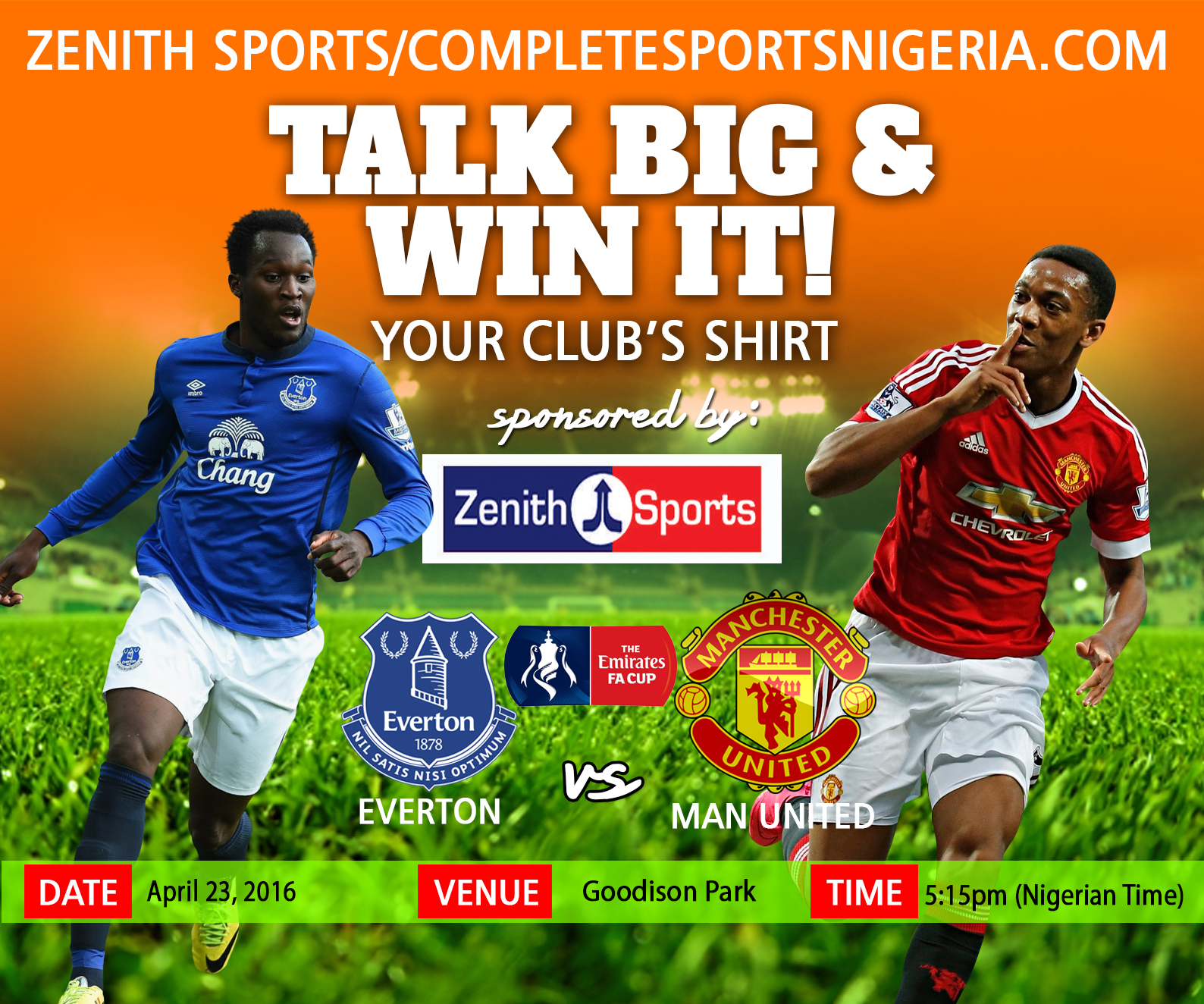 The Winners: Everton Vs Manchester United Talk Big & Win It!