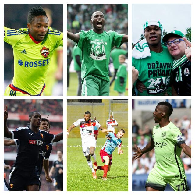 PERFECT 10: Nigeria's 2015/2016 Top Scorers In Europe