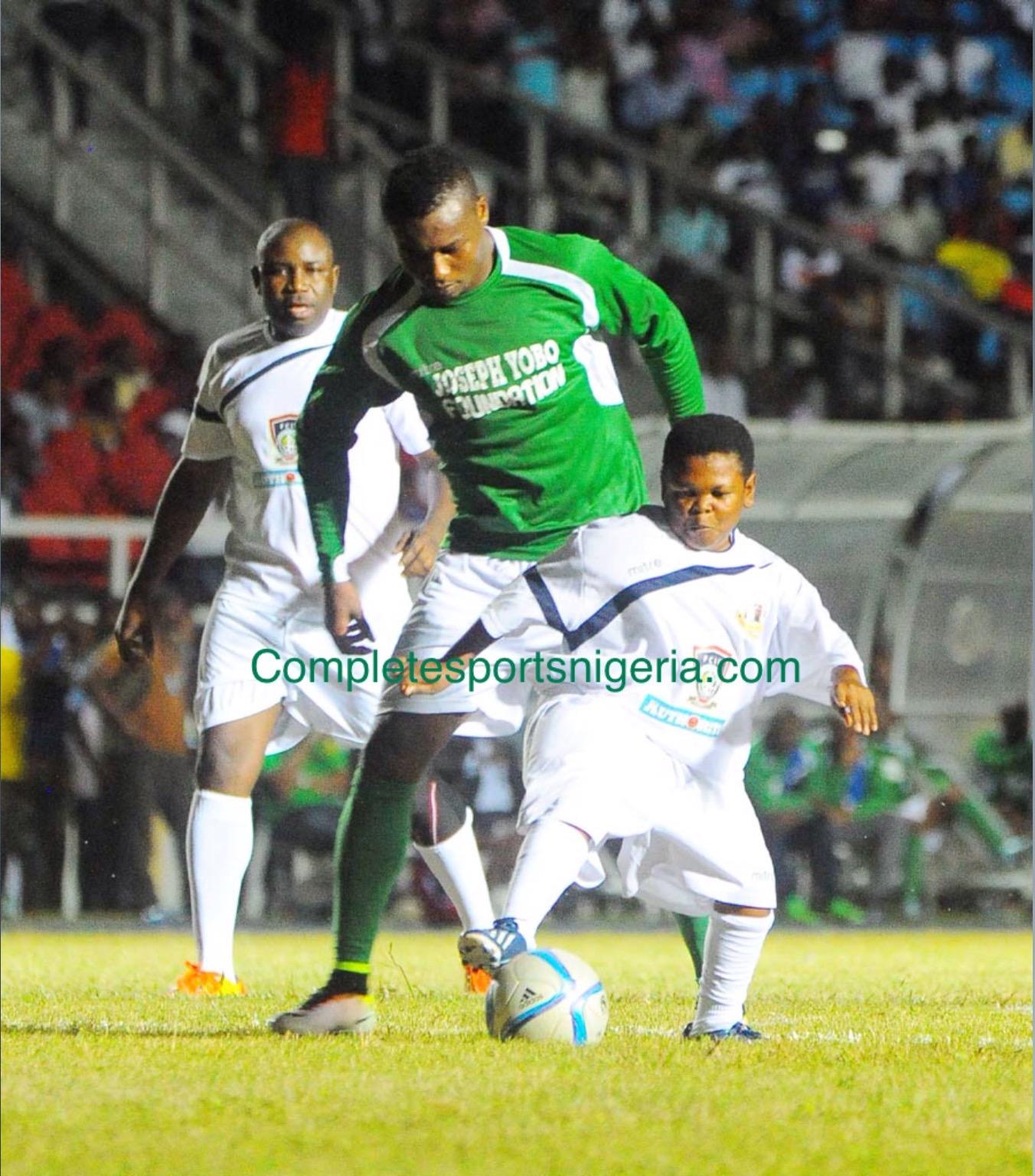 Yobo Testimonial: Emenike Bags Hat-trick, Paw Paw Scores As Nigeria XI Win