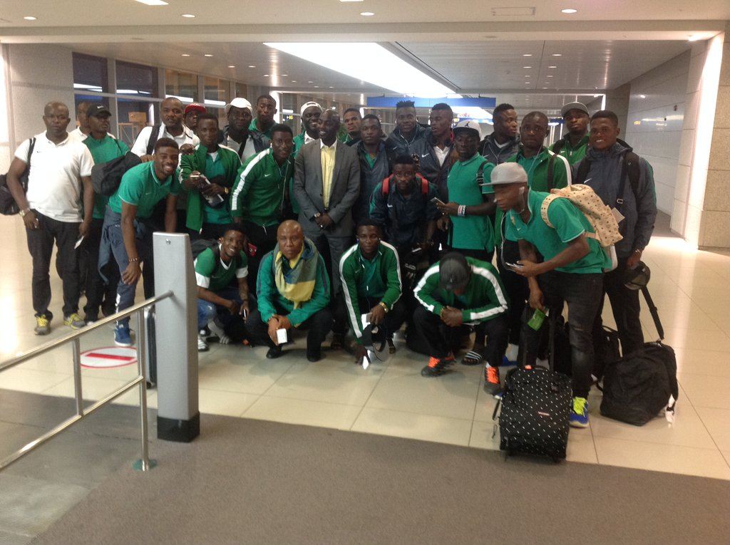 Nigeria U-23s Land In Seoul For Suwon Tourney