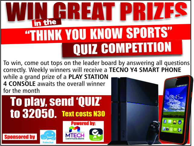 """ Think You Know Sports "" Quiz Competition – CLOSED"
