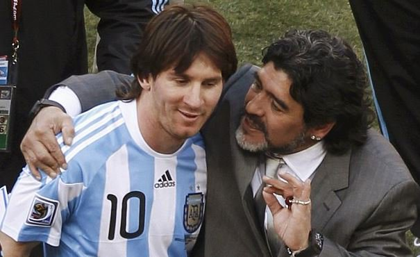 Maradona Begs Messi To Stay With Argentina