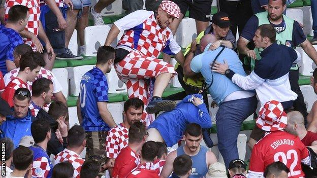 UEFA Fines Croatia £77,000 For Crowd Trouble