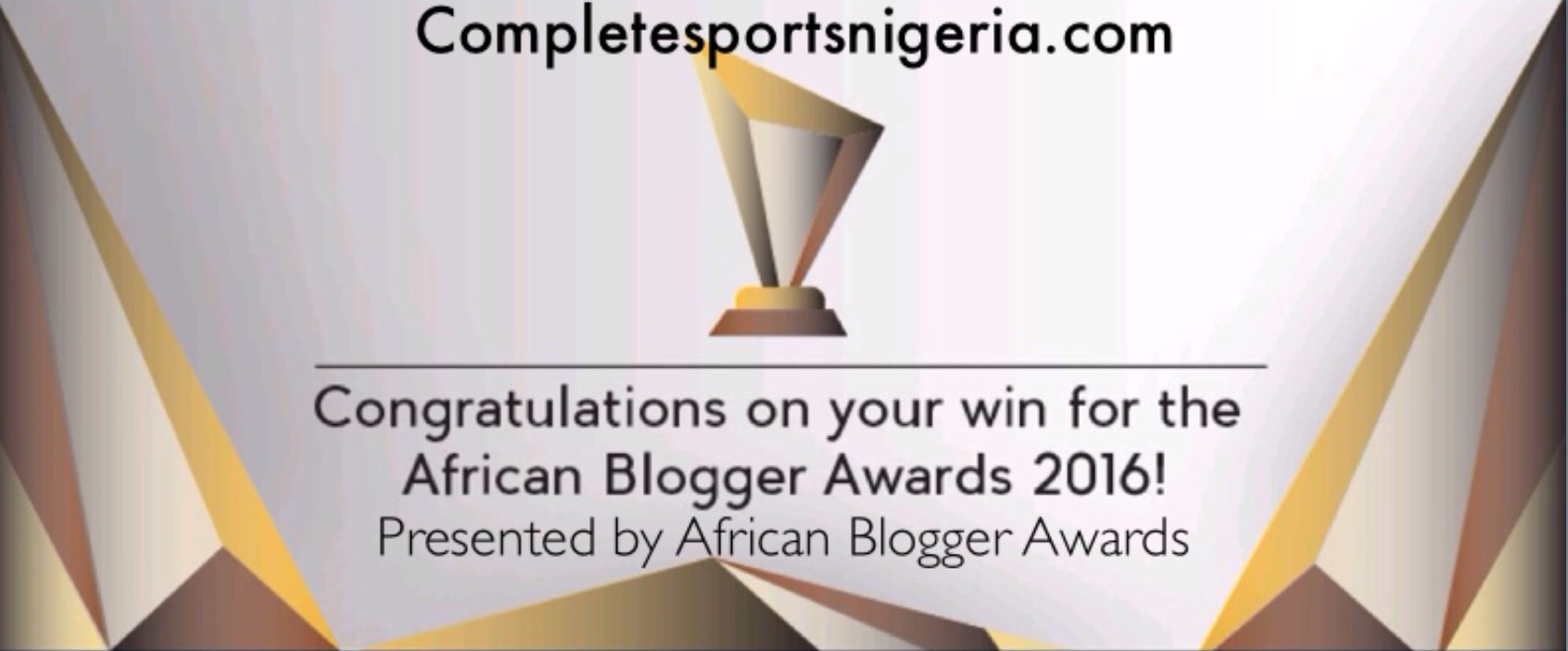 Completesportsnigeria.com Wins Best African Sports Website Award