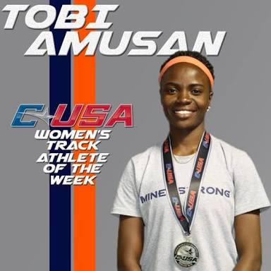 Nigerian Amusan Wins USA College Athletics Award