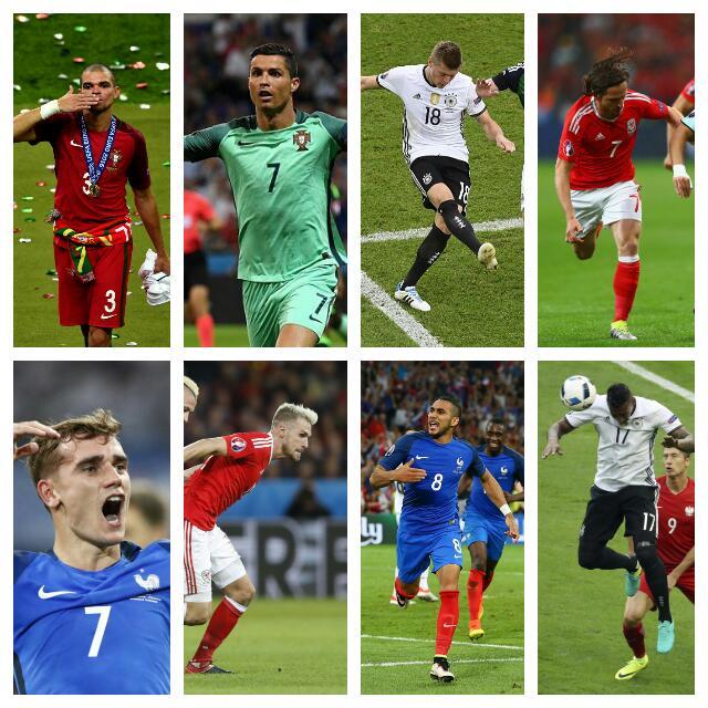 Ronaldo, Payet, Allen In Euro 2016 XI; Pogba, Ozil, Bale Out