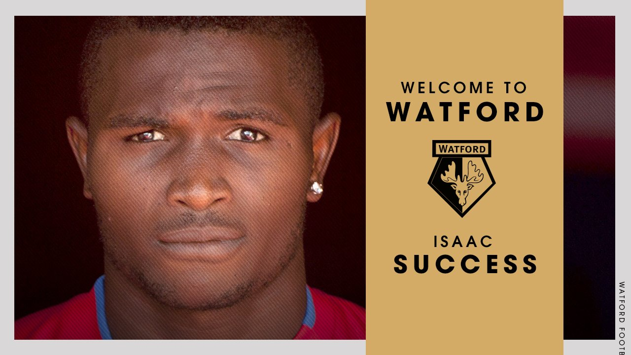 Isaac Success Officially Joins Ighalo At Watford