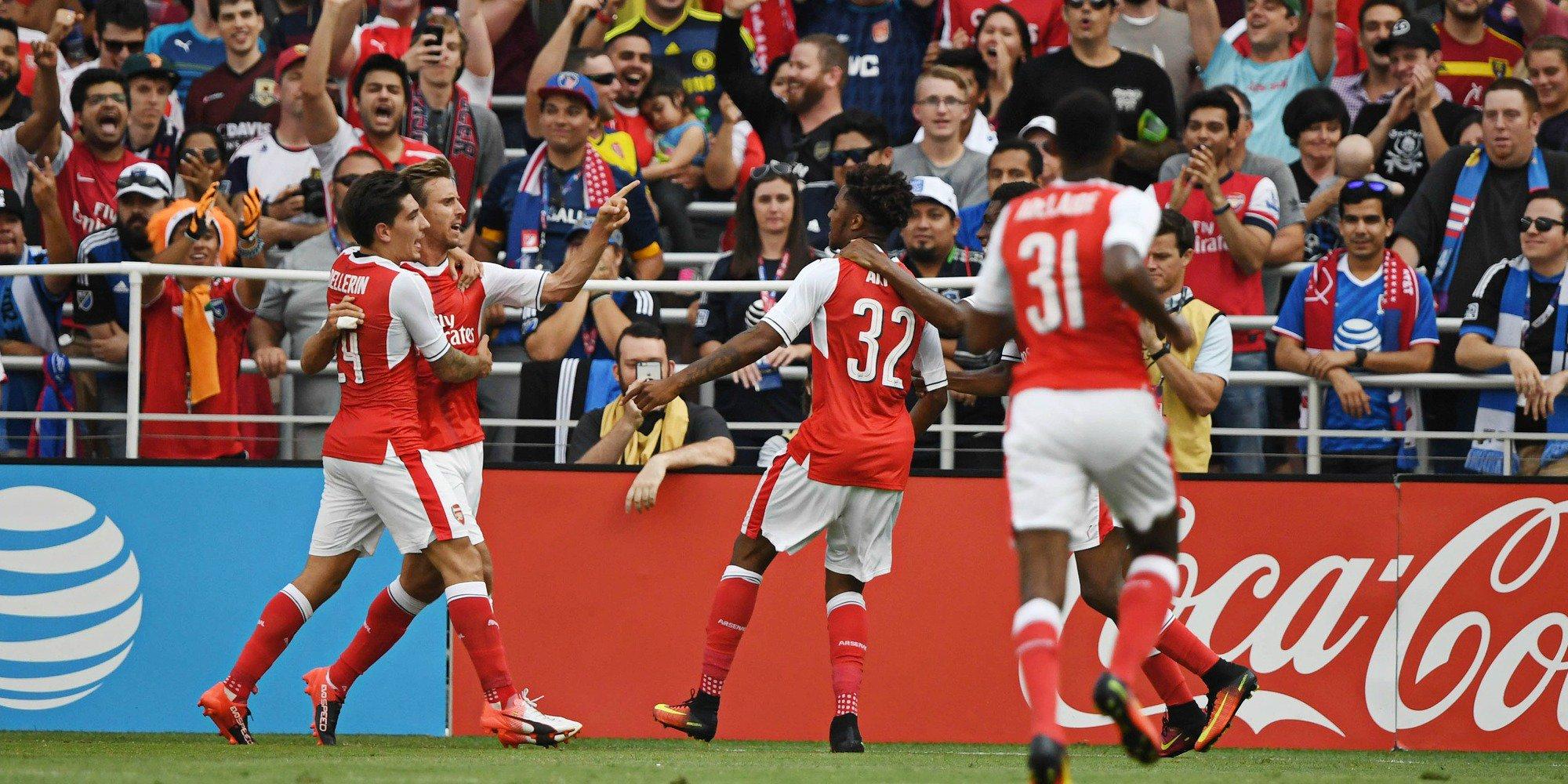 Akpom Delighted Scoring Arsenal's Winner Against MLS All-Stars