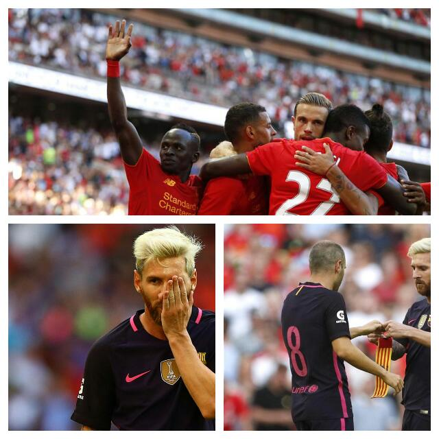 Liverpool Humiliate Barca In Pre-Season Friendly