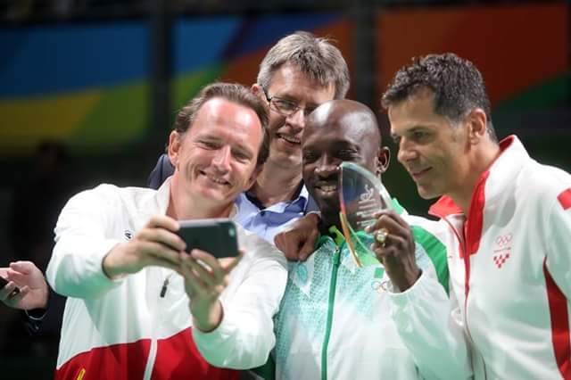 Toriola Honoured By ITTF In Rio, Inducted Into '7 Club'