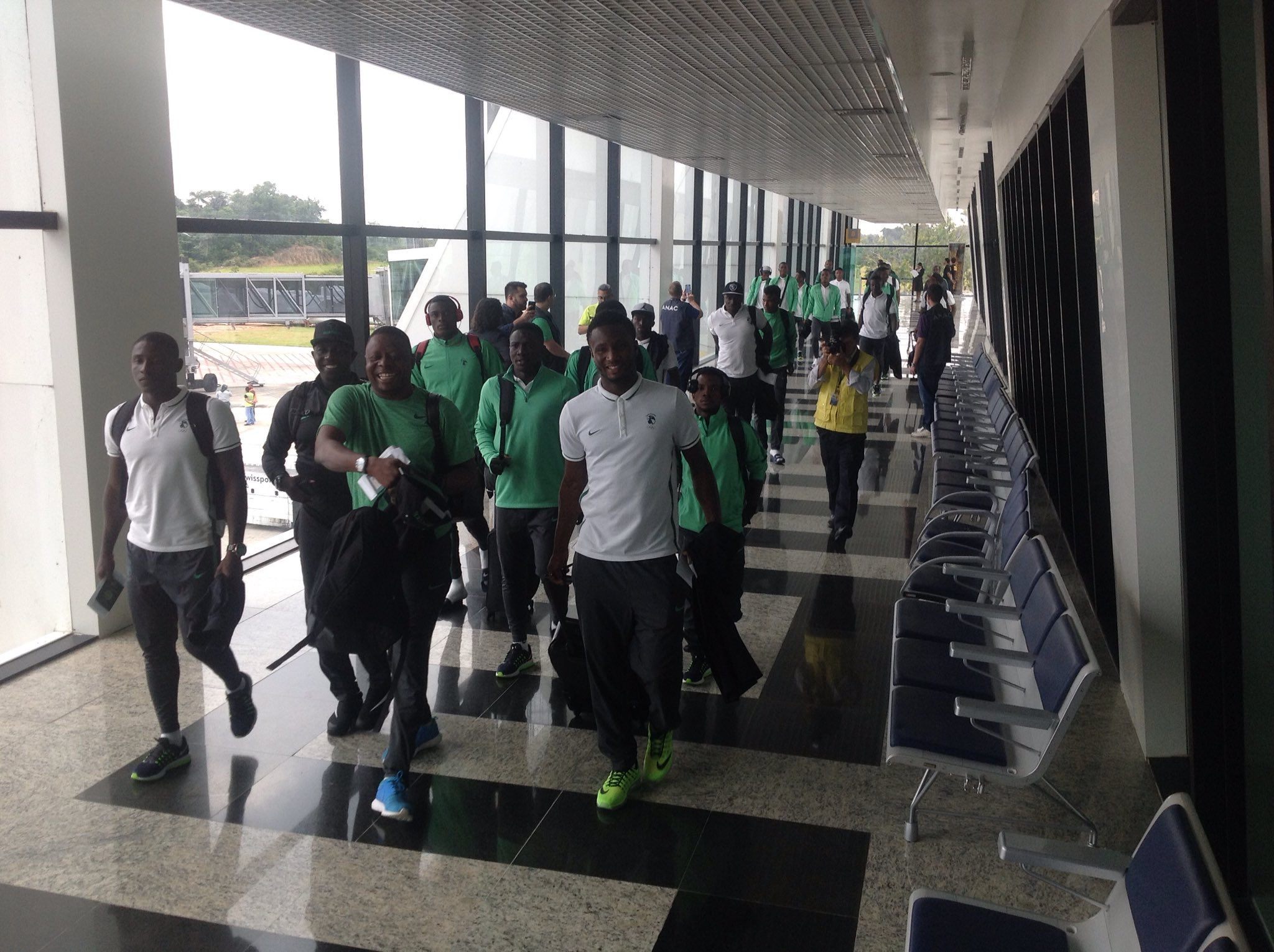 Olympic Eagles Finally Land In Manaus For Japan Clash