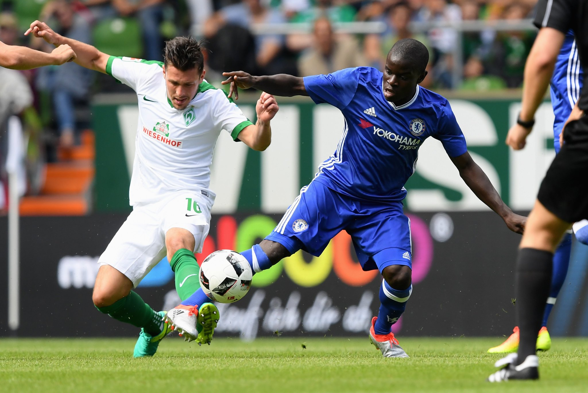 Moses, Kante In Action As Chelsea Outclass Werder Bremen