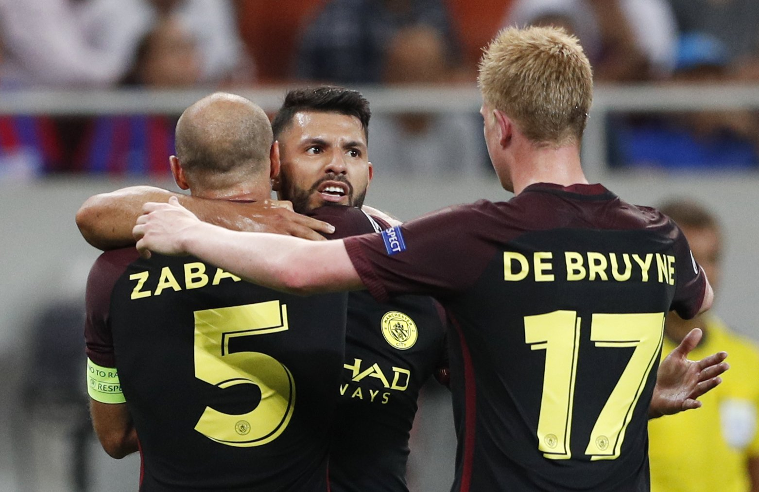 Aguero Bags Hat-Trick As City Rout Steau, Iheanacho Benched