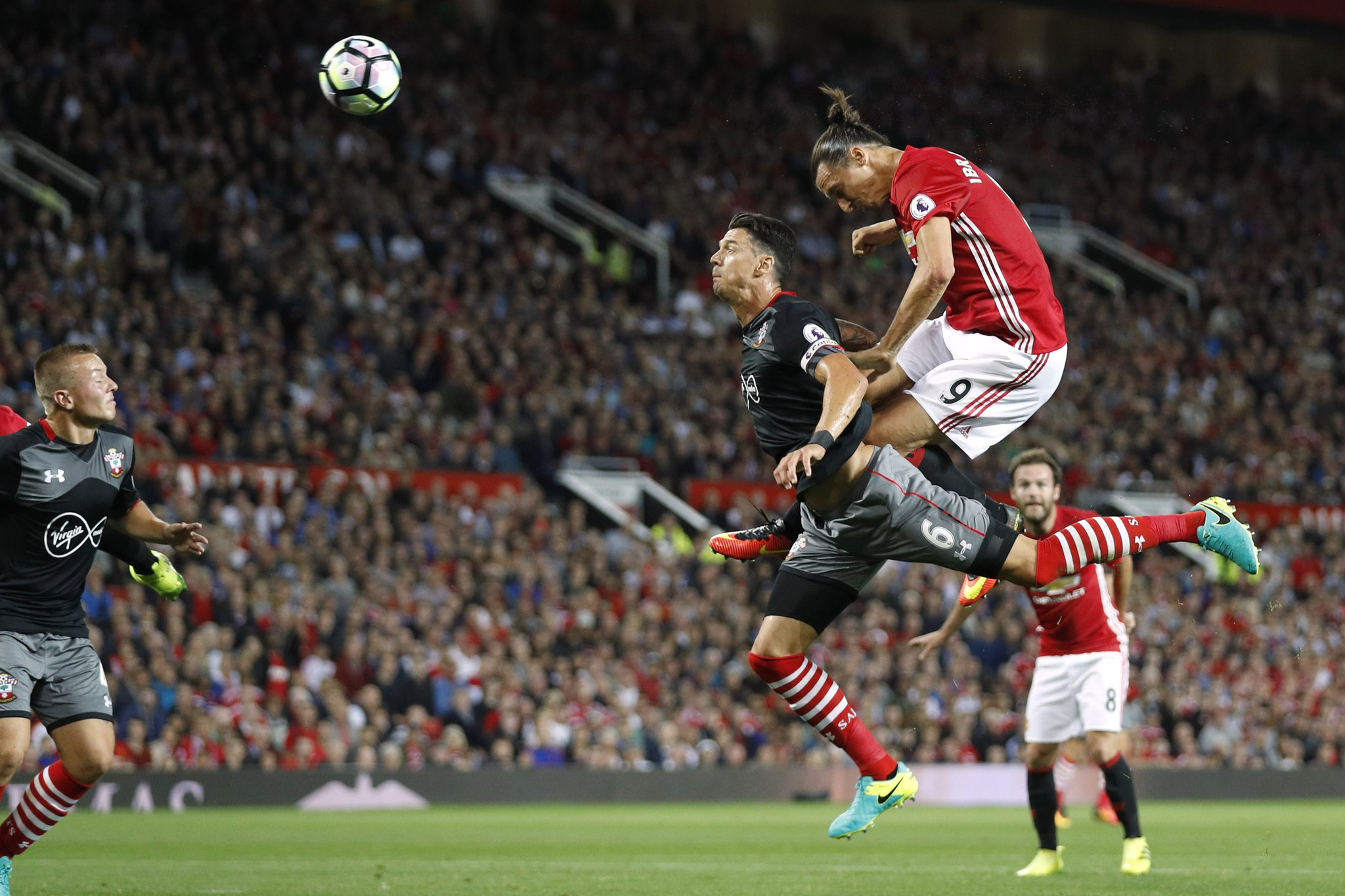 Zlatan Brace Sinks Southampton As Pogba Makes United Debut