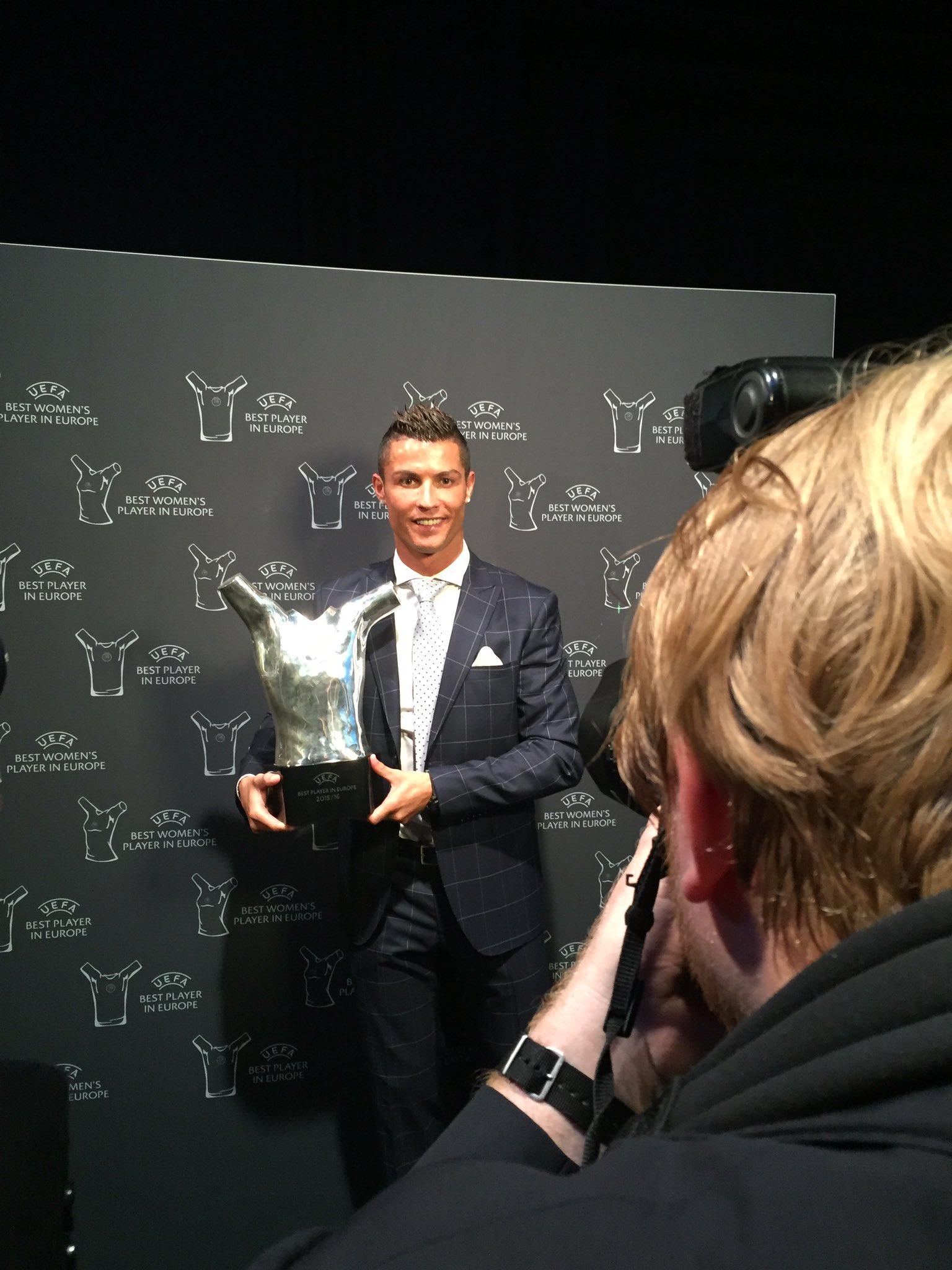 Ronaldo Wins 2nd UEFA Best Player In Europe Award
