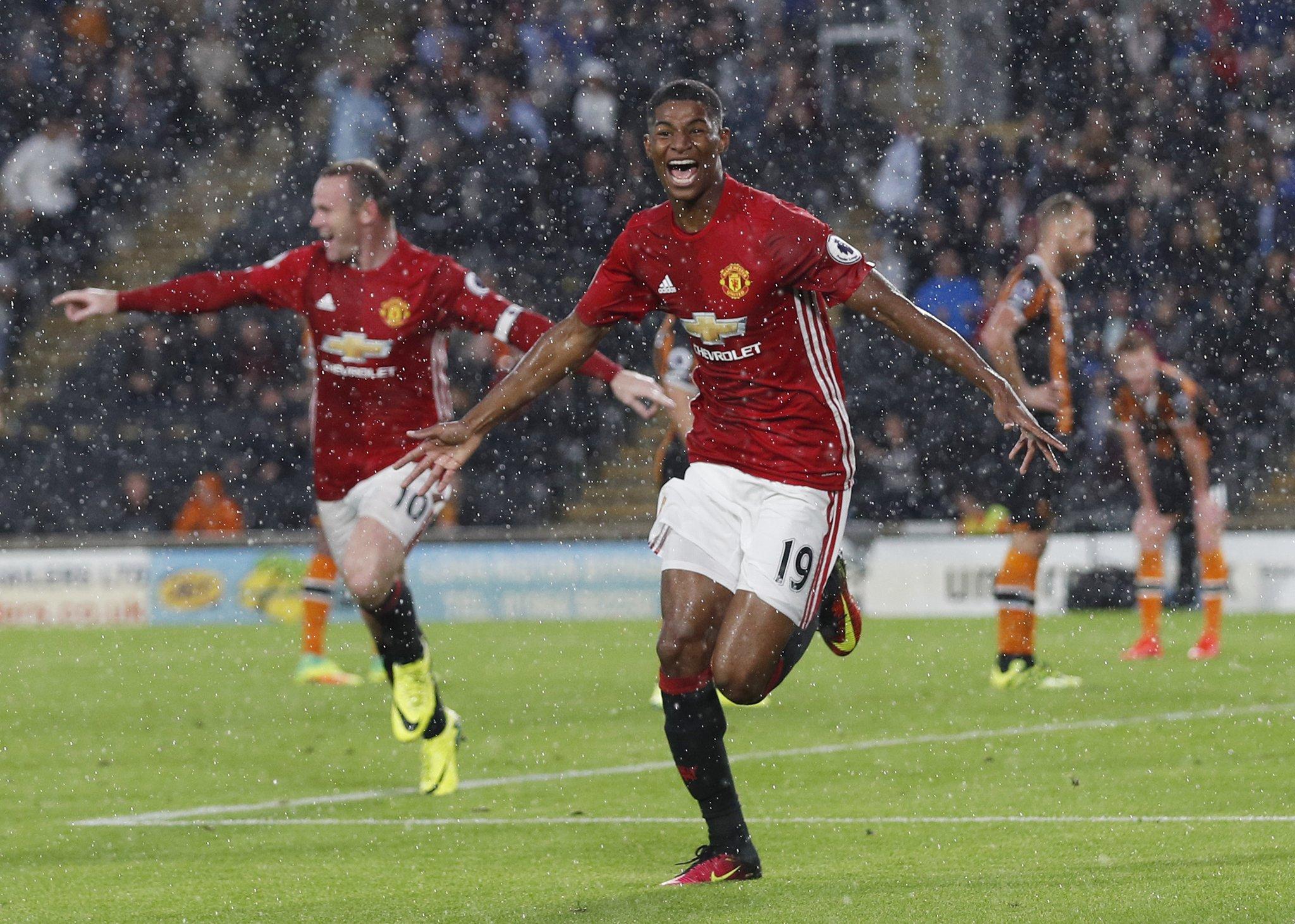 Rashford Scores Late As Man United Beat Stubborn Hull