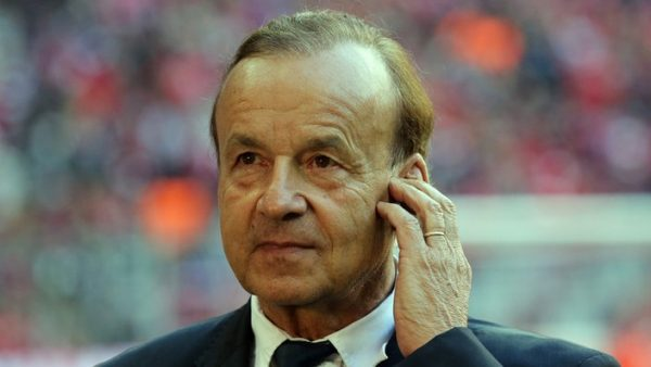 Rohr Returns Saturday For Algeria Clash, To Watch Fed Cup Final