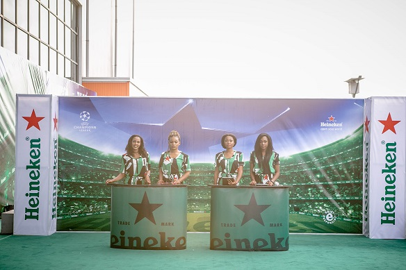 Heineken models at the event in landmark