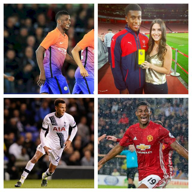 Iwobi, Iheanacho, Rashford,  Alli Up For Golden Boy Award