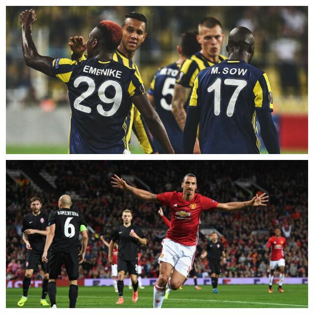 Europa: Emenike, Zlatan Score As Fenerbahce, United Win; Ideye, Igiebor Fall