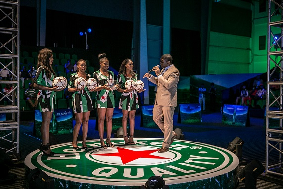 Raffle draw at the Heineken UCL kickoff