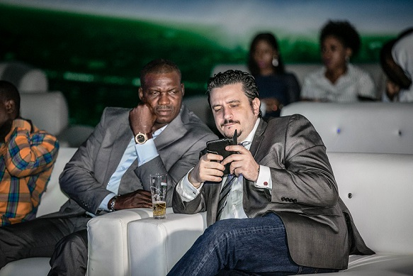 5. Austin Eguavoen and Marketing Director, Nigerian Breweries, Franco Maria Maggi