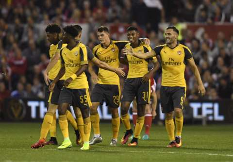 EFL Cup: Arsenal, Liverpool Thrash Forest, Derby To Advance